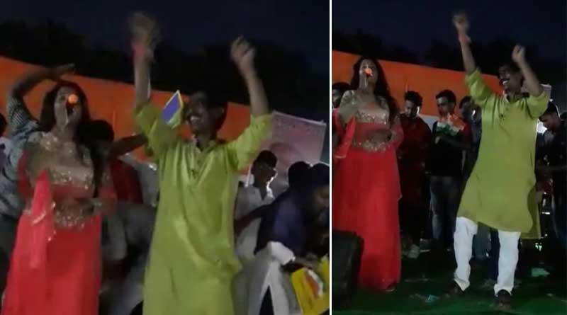 Birbhum: Congress lawmaker dances in  hindi tune, Sparks controversy