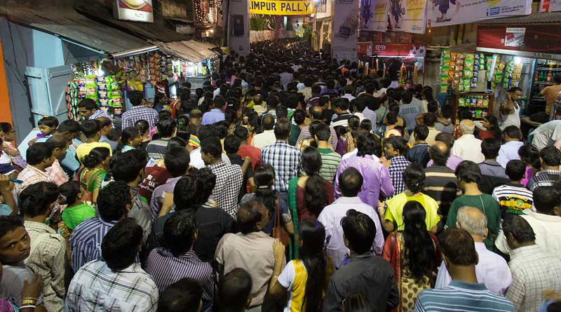 Police busted slogans to stop the Road Romeos in Pujo crowd