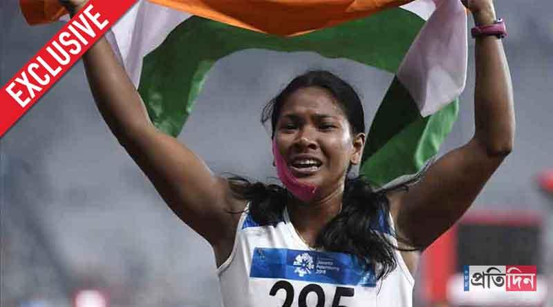 Swapna Barman recalls her puja memory