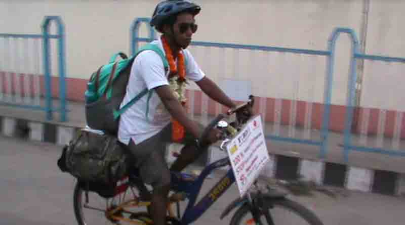 Youth cycles for blood donation