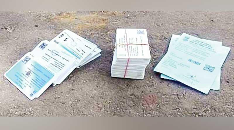 Stacks of digital ration card found dumped in Bankura