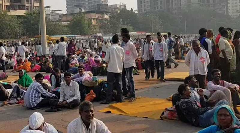 kishan march in Maharashtra