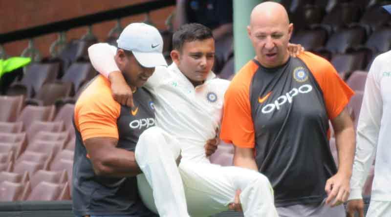 Prithvi out of Australia Test