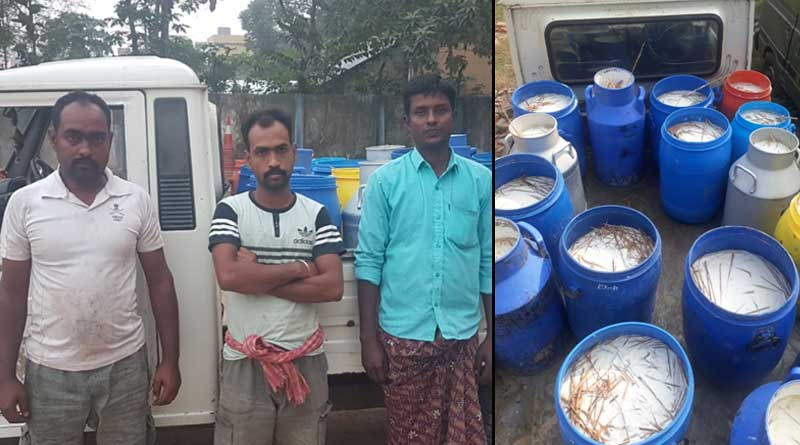 Adulterated milk seized by Police
