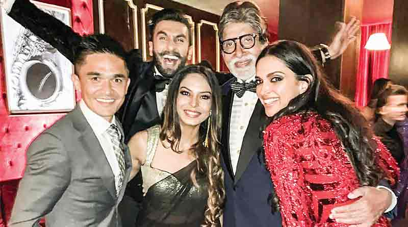 Amitabh in DeepVeer's reception