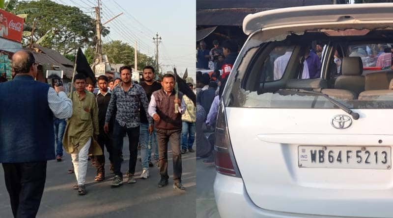 Dilip Ghosh attacked in Coochbehar