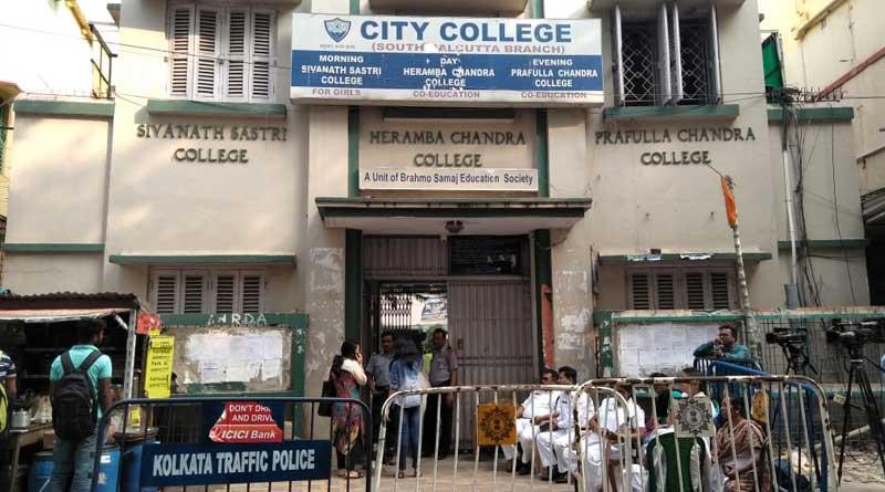 Student protest at Kolkata college