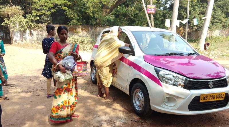 Women Pink Cab driver