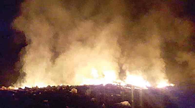 Fire in the fertilizer factory at Belur
