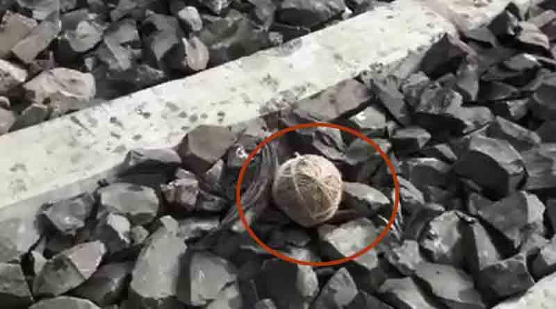 Bomb on rail track at Habra