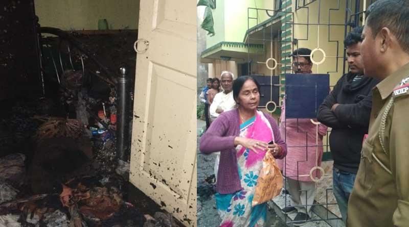Elderly woman suffers burn injury