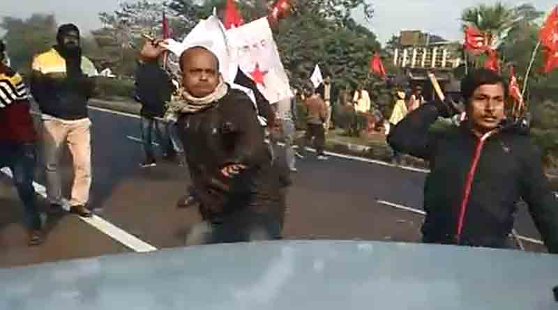 Bandh supporters tried to block students