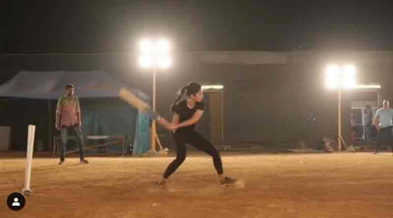 Katrina Kaif plays cricket