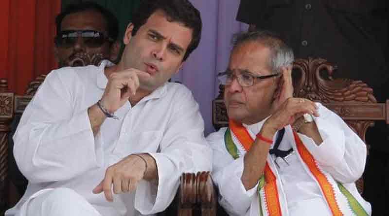 Rahul Gandhi greets Pranab for Bharatratna