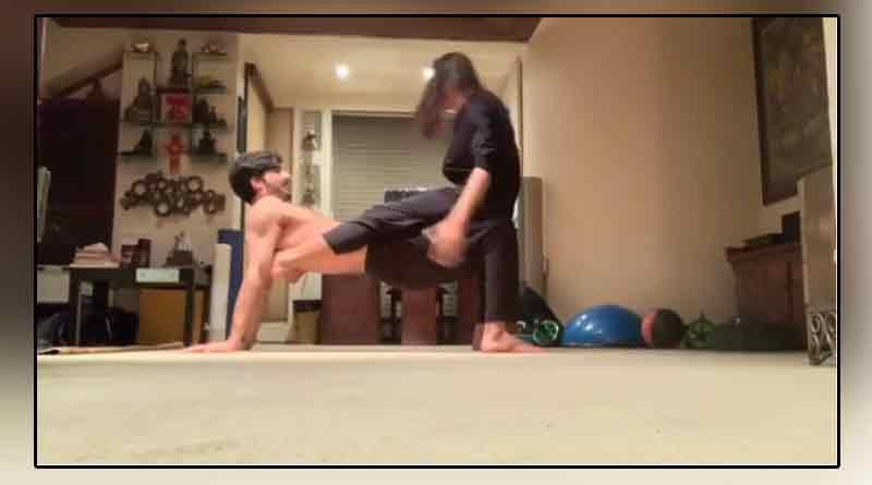 Sushmita Sen's workout session