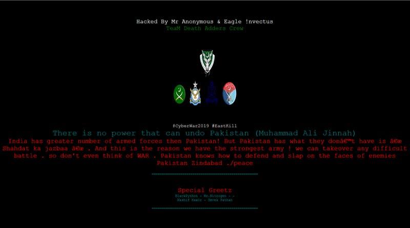 Pak hackers attack college website