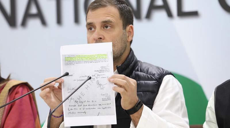 Rahul Gandhi slams modi on Rafale jet deal.