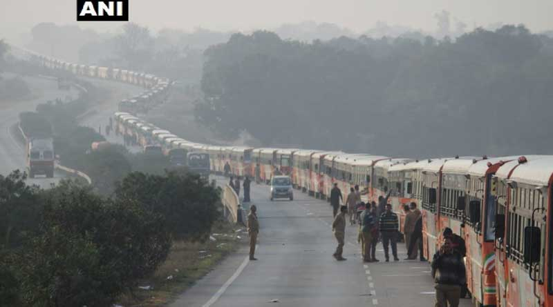 largest parade of buses in Kumbh.