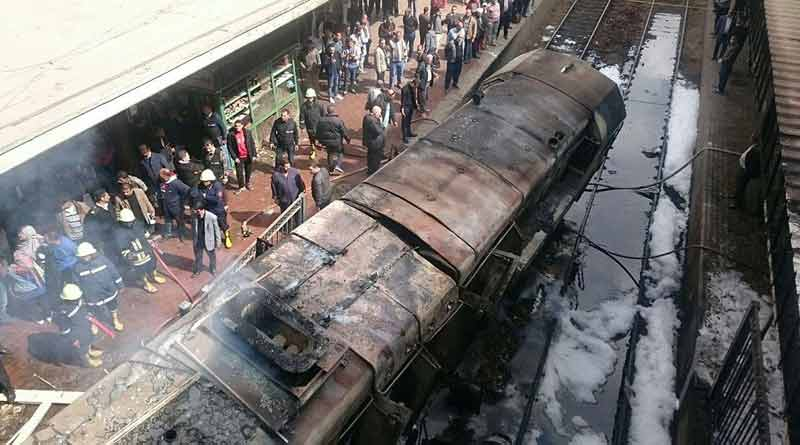 25 Killed for fire in Cairo station.