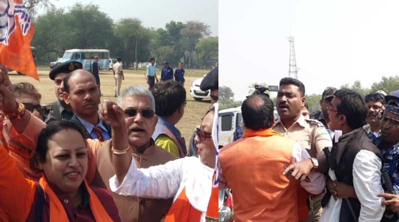BJP State President Dilip Ghosh threats Police