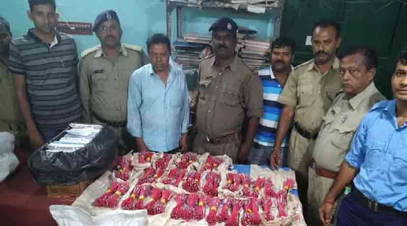 Arms and amunitions recovered from Khatra