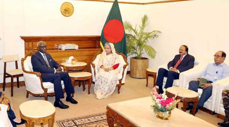 Prime Minister Sheikh Hasina with UN officials