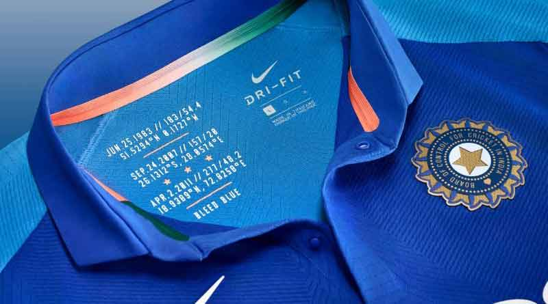 Indian cricket teams new Jersey unveiled