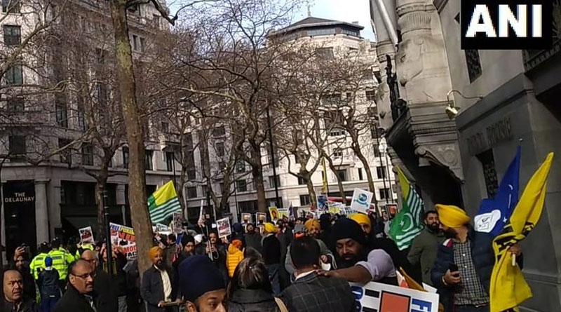Pro-Khalistani attacked pro-India demonstrators in London