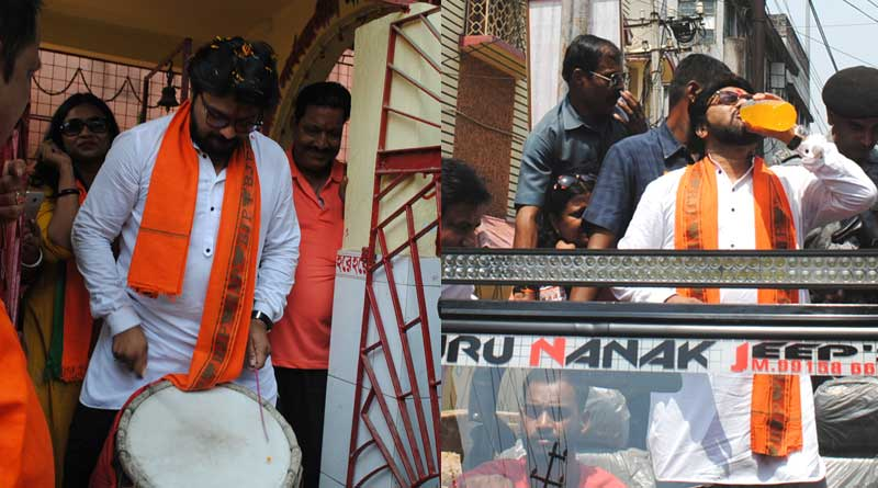 Babul Supriya campaigns with controversial song in Asansol