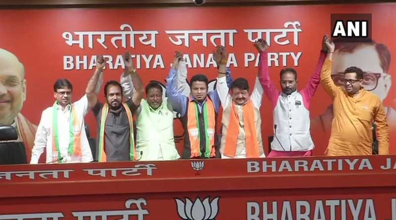 Congress mla from Bagda joins BJP.