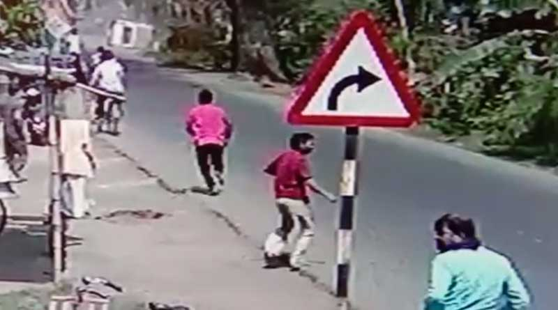 Ambulance hits a man, dies