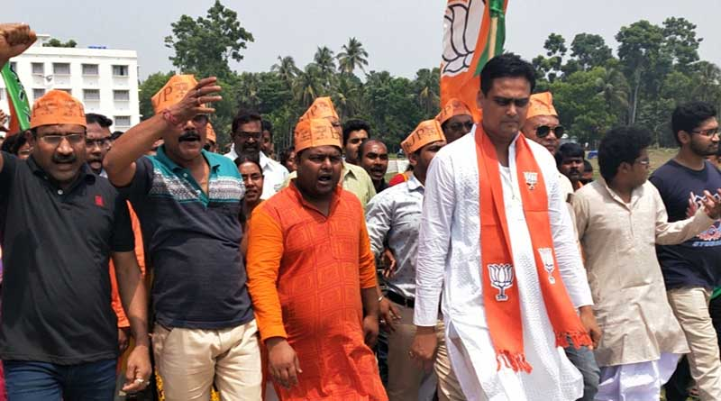 BJP candidate Shantanu Thakur starts campaign Ghaighata