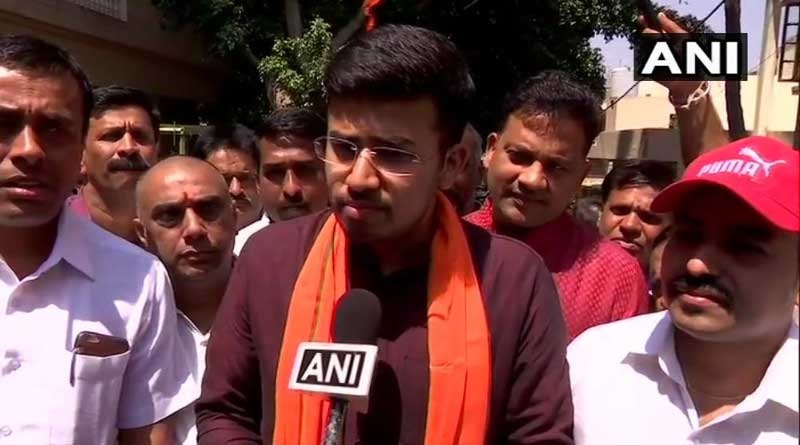 Tejasvi Surya is BJP candidate in the high-profile Bangalore South.
