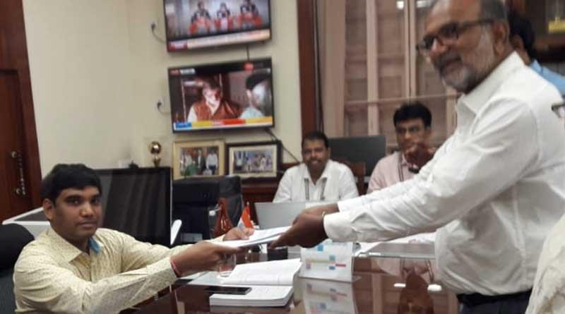 Bikash Ranjan files nomination