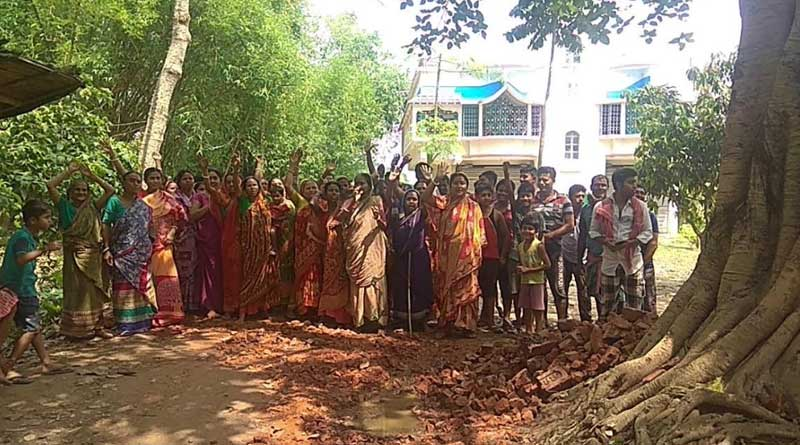 Road construction stopped over local's agitation in Bagda