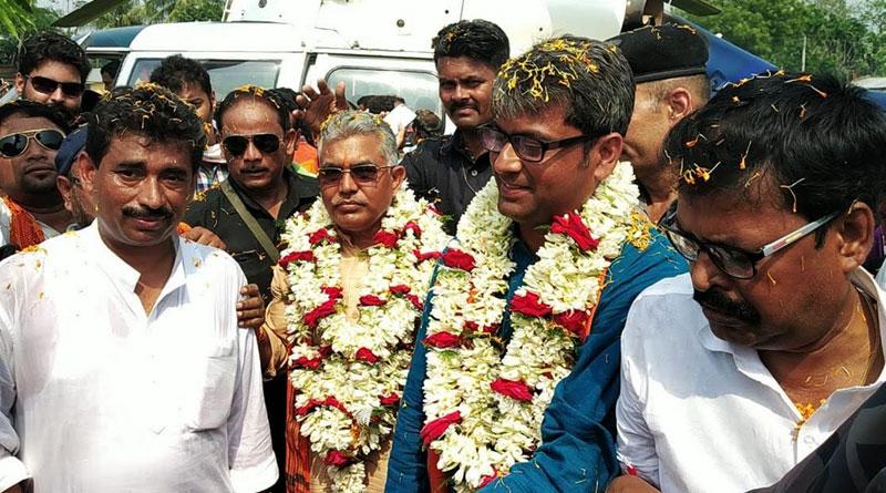 Dilip Ghosh slams TMC Govt. on Bangladeshi actor's campaingn for TMC