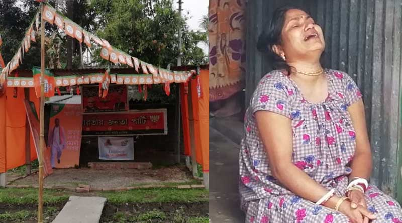 Dead boby Of a man found in BJP's booth Office in Siliguri