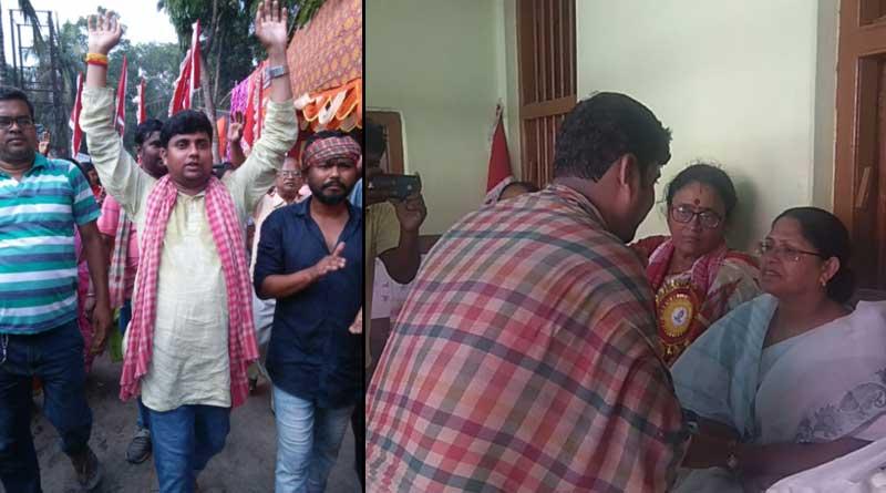 Congress Leader Sourav Prasad visits Thakurbari at Bongaon