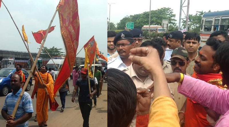 Barrackpore Police stopped VHP's bike rally in Dunlop