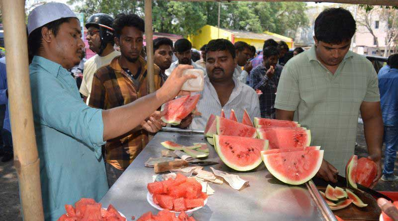 South Indian superstar Uppi campaign with watermellons