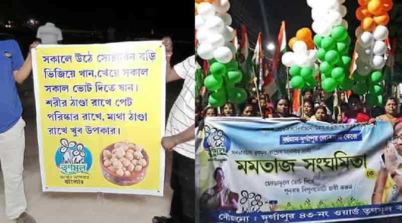 TMC candidate Dr.Mamtaj Sanghamita prescribes to take soyabean chunks