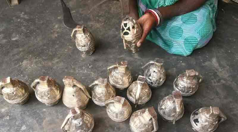 Docra sculptors are making model grenade ahead of election