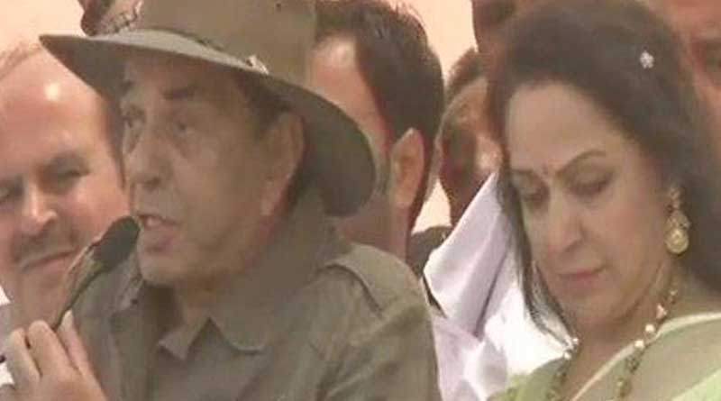 Dharmendra is in campaign for his wife,star candidate Hema Malini