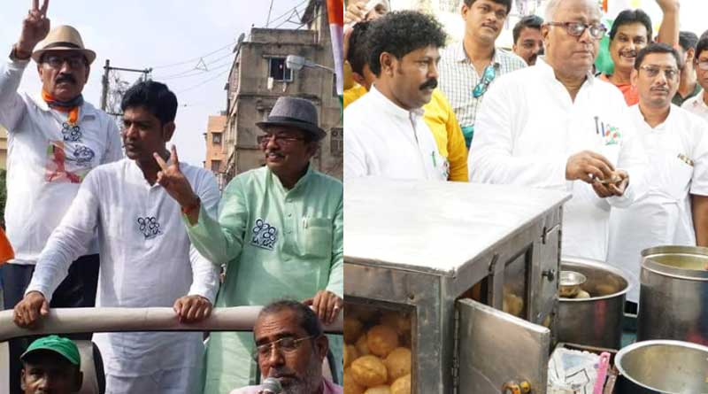 TMC candidate Prasun Banerjee and Sougata Roy campaign