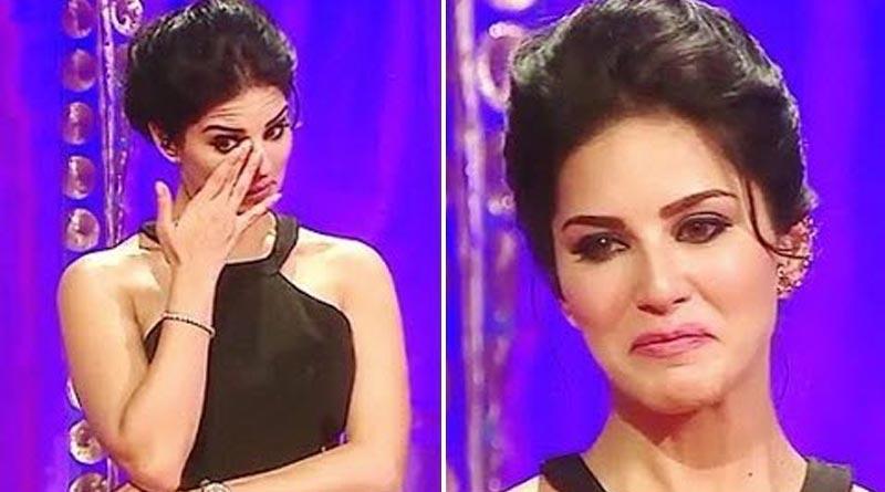 Bollywood actress Sunny Leone broke into tears on shooting