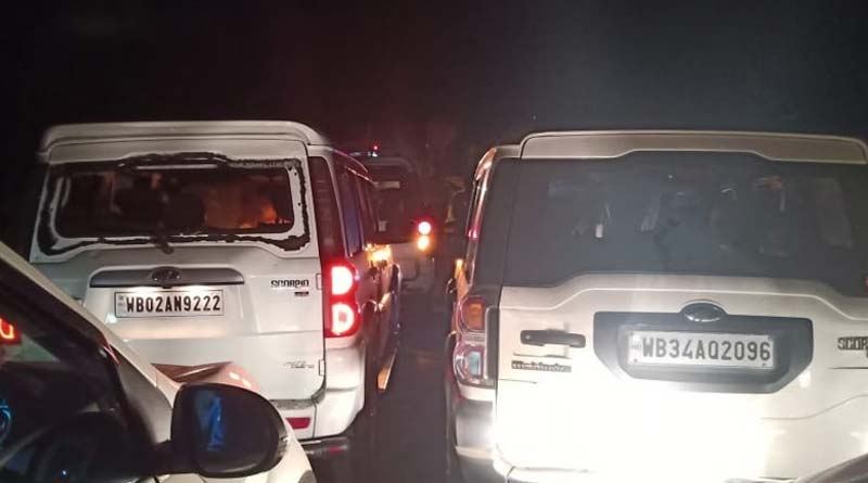 Dilip Ghosh convoy allegedly attacked in Khejuri by TMC goons