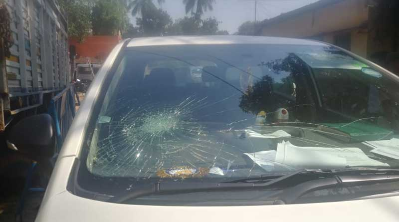 Locket Chatterjee Car ransacked