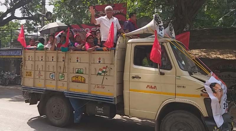 CPM candidate Fuad Halim campaigns at Budge Budge