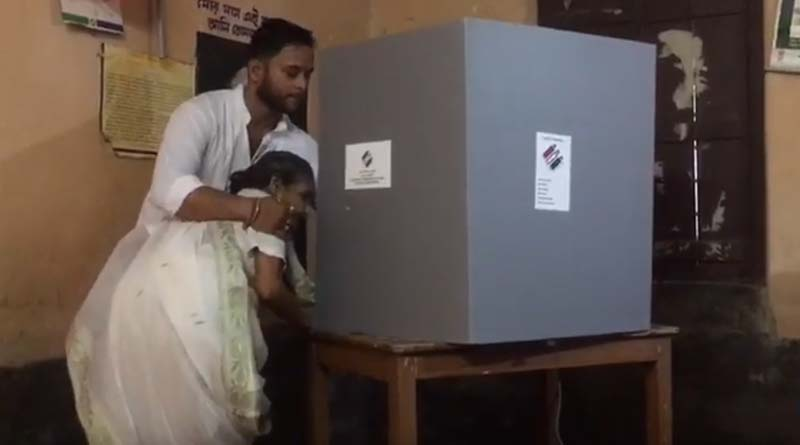TMC leader cast proxy vote in a booth at Tarkeshwar