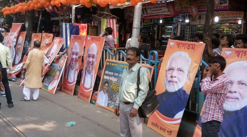 BJP posters torn apart in Kolkata ahead of Amit Shah rally